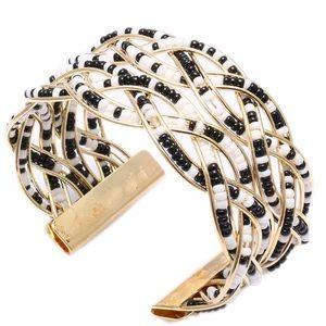 Black & White Boho Beaded Multi-Layer Bracelet
